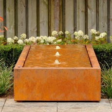 Table d'eau en corten 600x100